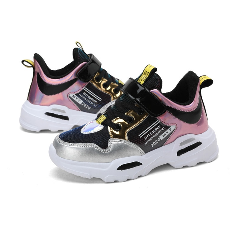 2020 New Arrival Spring Autumn Shiny Upper Children Shoes Girls Fashion Kids Sneakers Casual Toddler Sports Shoes Summer Tenis Sneakers  6