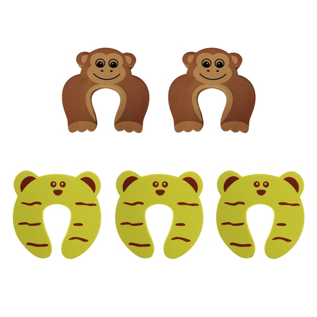 5Pcs/Lot Protection Baby Safety Cute Animal Security Door Stopper Baby Card Lock Newborn Care Child Finger Protector|baby safety|baby lockbaby door lock – style 4 11
