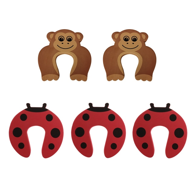 5Pcs/Lot Protection Baby Safety Cute Animal Security Door Stopper Baby Card Lock Newborn Care Child Finger Protector|baby safety|baby lockbaby door lock – style 5 12