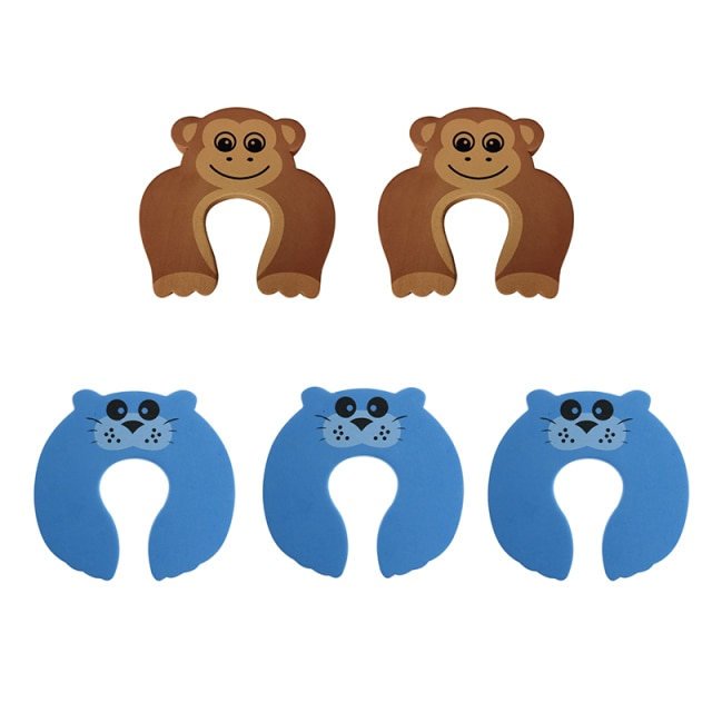 5Pcs/Lot Protection Baby Safety Cute Animal Security Door Stopper Baby Card Lock Newborn Care Child Finger Protector|baby safety|baby lockbaby door lock – style 6 13