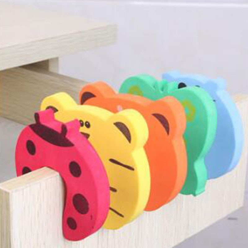 5Pcs/Lot Protection Baby Safety Cute Animal Security Door Stopper Baby Card Lock Newborn Care Child Finger Protector|baby safety|baby lockbaby door lock 1