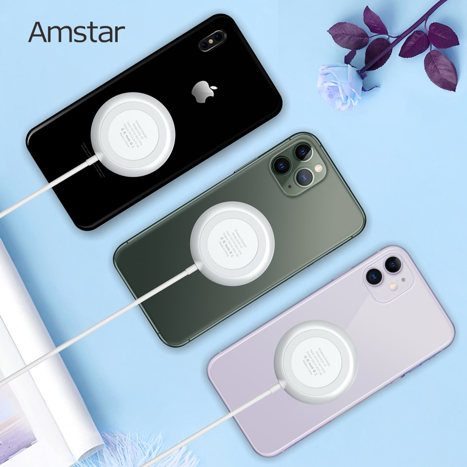 Amstar Suction Cup Qi Wireless Charger for iPhone 12 11 Pro Max XS XR 10W Fast Wireless Charging Pad for Samsung S21 S20 Note 20 Wireless Chargers  6