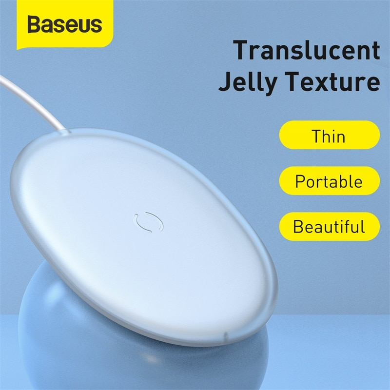 Baseus Jelly Wireless Charger 15W Fast Qi Wireless Charger For iPhone Airpods Pro Quick Wireless Fast Charging Pad Phone Charger Wireless Chargers  2