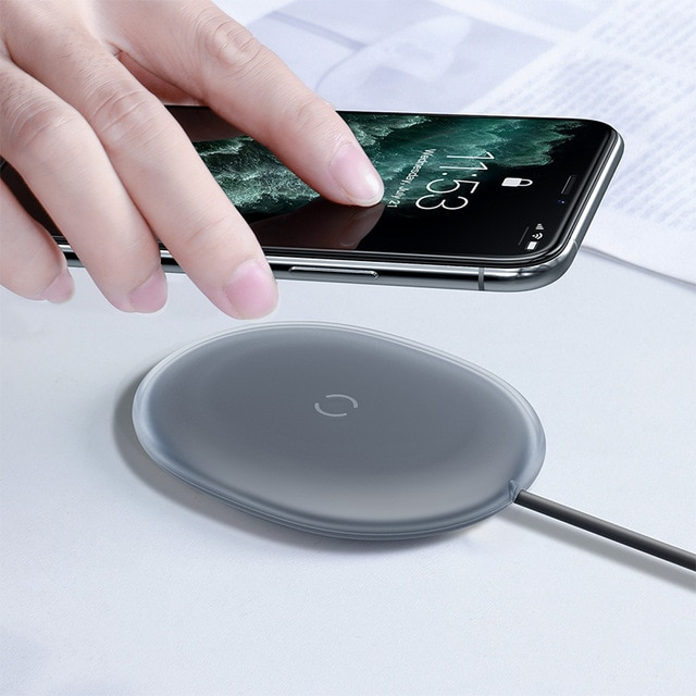 Baseus Jelly Wireless Charger 15W Fast Qi Wireless Charger For iPhone Airpods Pro Quick Wireless Fast Charging Pad Phone Charger Wireless Chargers  – No Adapter [496] 9