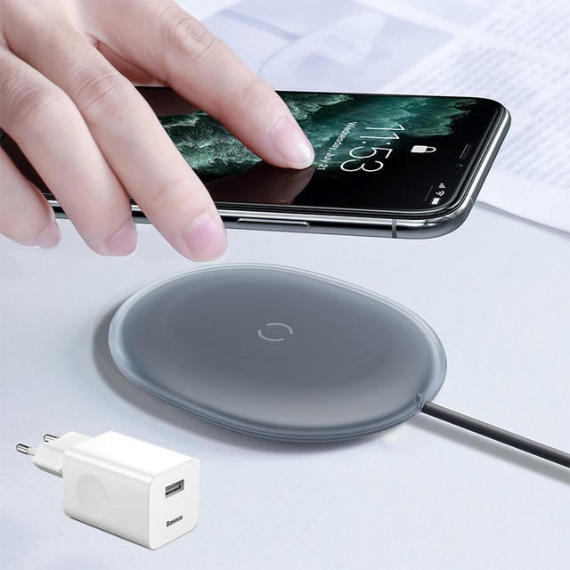 Baseus Jelly Wireless Charger 15W Fast Qi Wireless Charger For iPhone Airpods Pro Quick Wireless Fast Charging Pad Phone Charger Wireless Chargers  – With Adapter [691] 10