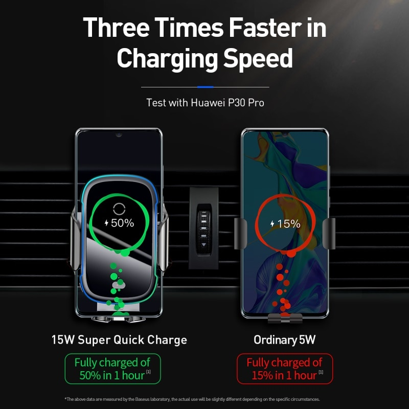 Baseus Qi Car Wireless Charger for iPhone 11 Samsung Xiaomi 15W Induction Car Mount Fast Wireless Charging with Car Phone Holder|Wireless Chargers| 4