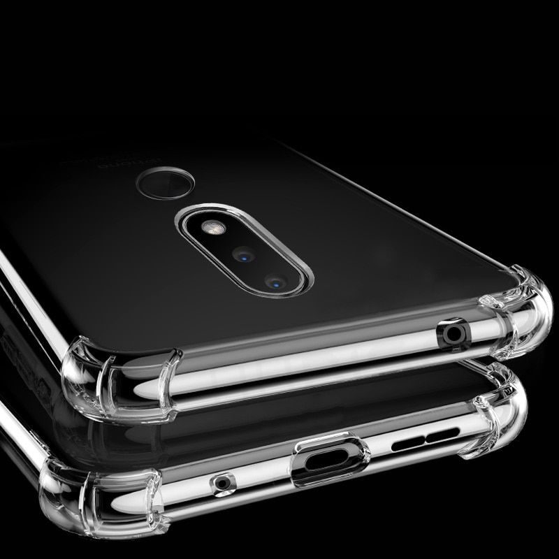 Case For Nokia 2 3 6 7 8 8.3 2.1 3.1 5.1 6.1 Plus 7.1 2.2 3.2 4.2 6.2 7.2 2.3 5.3 1.3 2.4 5.4 3.4 1.4 Shockproof Silicone Cover Phone Case & Covers  2