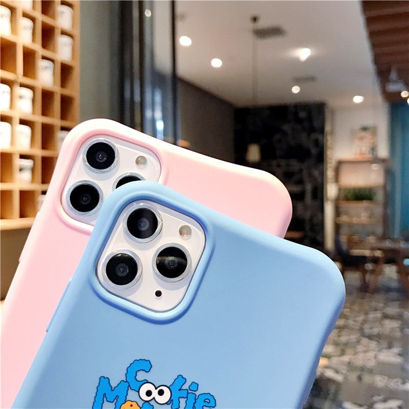 Cute cartoon Sesame Street Cookie Elmo phone case for iphone 12 11 Pro X XS Max XR 7 8 6 6S Plus relief soft candy back cover Phone Case & Covers  4