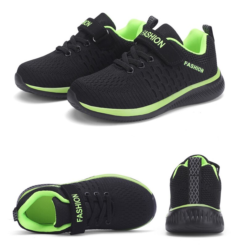 Fashion Kids Sneakers Summer Breathable Running Shoes Boy Outdoor Non slip Casual Sport Tennis Shoes for Girls Big Children Size|Running Shoes| 6