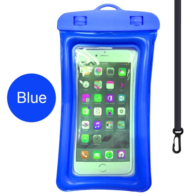 Floating Airbag Waterproof Swim Bag Phone Case For iphone 11 Pro Max Samsung Xiaomi mi Note 9 Pro Redmi Huawei P30 20 Lite Cover Phone Pouches  – Blue 8