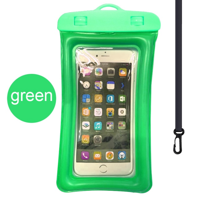 Floating Airbag Waterproof Swim Bag Phone Case For iphone 11 Pro Max Samsung Xiaomi mi Note 9 Pro Redmi Huawei P30 20 Lite Cover Phone Pouches  – Green 9
