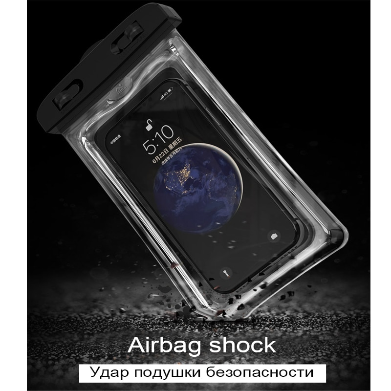 Floating Airbag Waterproof Swim Bag Phone Case For iphone 11 Pro Max Samsung Xiaomi mi Note 9 Pro Redmi Huawei P30 20 Lite Cover Phone Pouches  5