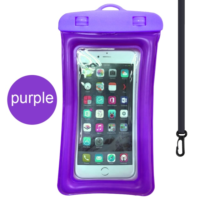 Floating Airbag Waterproof Swim Bag Phone Case For iphone 11 Pro Max Samsung Xiaomi mi Note 9 Pro Redmi Huawei P30 20 Lite Cover Phone Pouches  – Purple 11