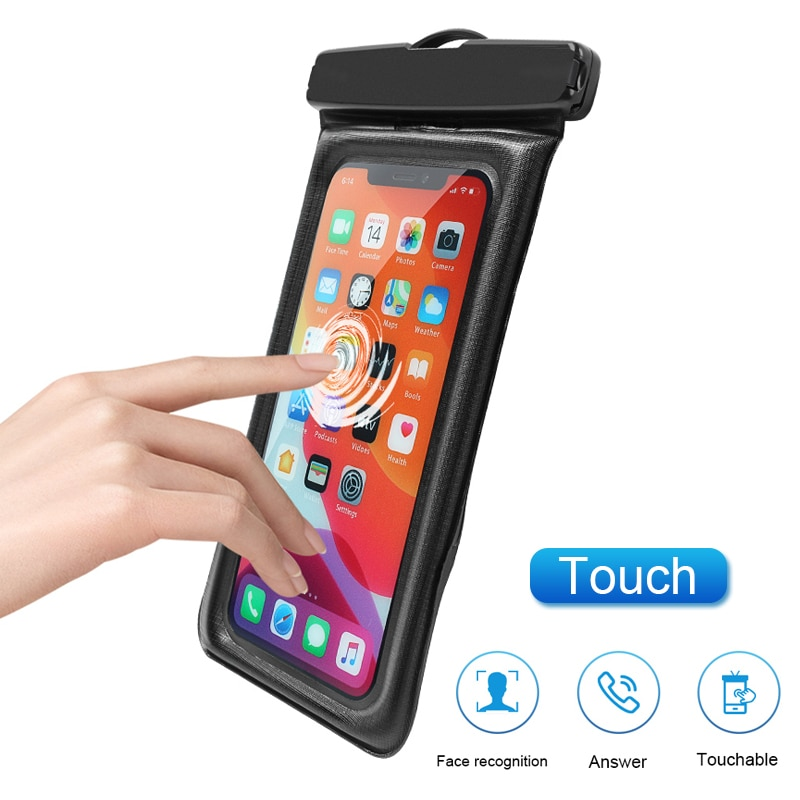 Floating Airbag Waterproof Swim Bag Phone Case For iphone 11 Pro Max Samsung Xiaomi mi Note 9 Pro Redmi Huawei P30 20 Lite Cover Phone Pouches  6
