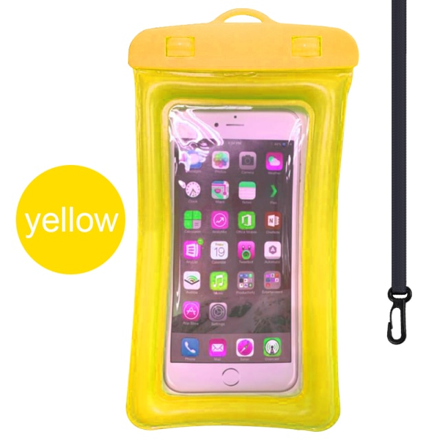 Floating Airbag Waterproof Swim Bag Phone Case For iphone 11 Pro Max Samsung Xiaomi mi Note 9 Pro Redmi Huawei P30 20 Lite Cover Phone Pouches  – Yellow 13