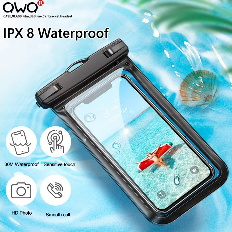 Floating Airbag Waterproof Swim Bag Phone Case For iphone 11 Pro Max Samsung Xiaomi mi Note 9 Pro Redmi Huawei P30 20 Lite Cover Phone Pouches  1