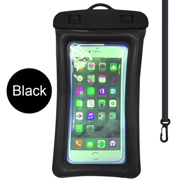 Floating Airbag Waterproof Swim Bag Phone Case For iphone 11 Pro Max Samsung Xiaomi mi Note 9 Pro Redmi Huawei P30 20 Lite Cover Phone Pouches  – Black 7