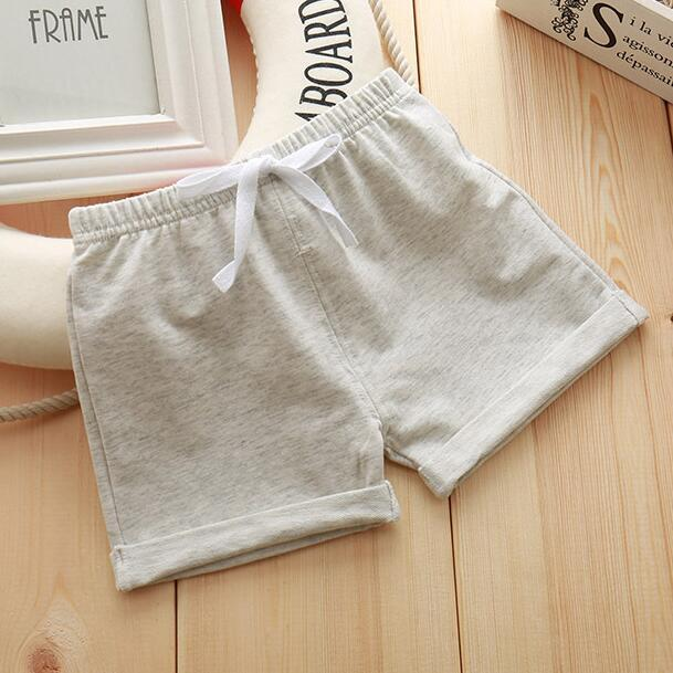 Infant Toddler Girls Boys Shorts Summer Cotton Kids Beach Shorts Baby Pants Solid Color Casual Sytle|Shorts| – 2Grey 8