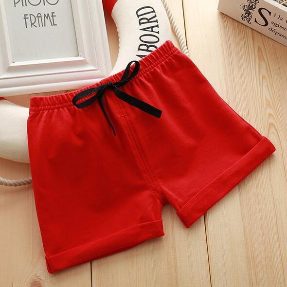 Infant Toddler Girls Boys Shorts Summer Cotton Kids Beach Shorts Baby Pants Solid Color Casual Sytle|Shorts| – 6 12