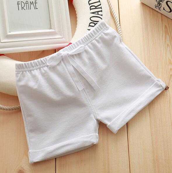 Infant Toddler Girls Boys Shorts Summer Cotton Kids Beach Shorts Baby Pants Solid Color Casual Sytle|Shorts| – 8White 14
