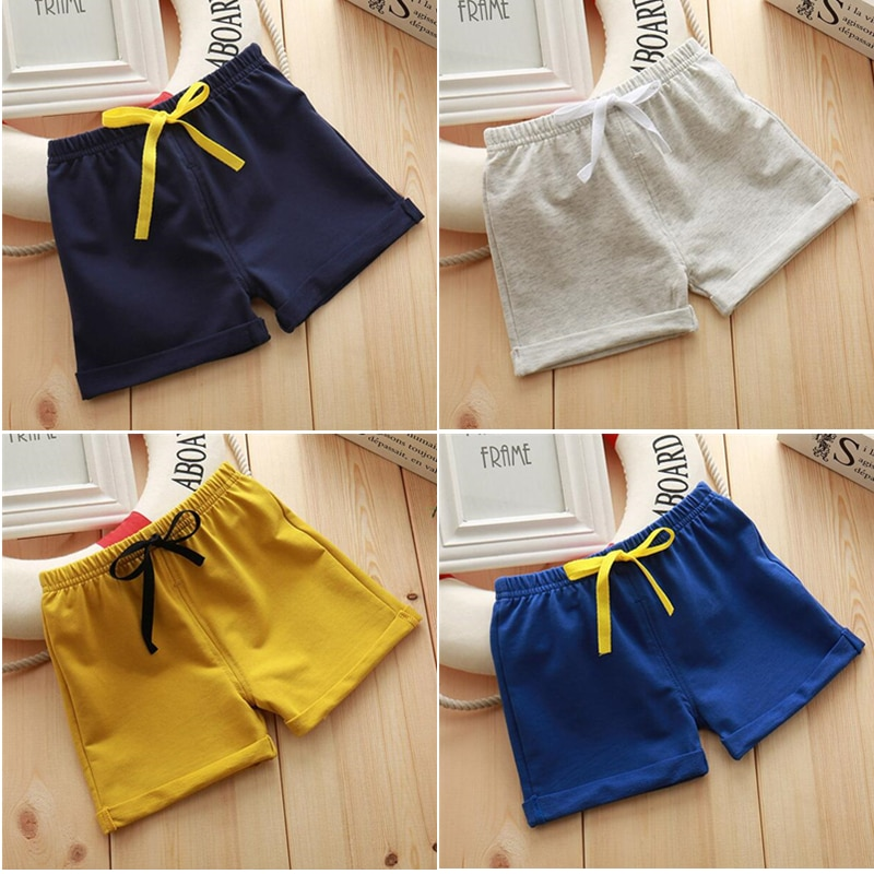 Infant Toddler Girls Boys Shorts Summer Cotton Kids Beach Shorts Baby Pants Solid Color Casual Sytle|Shorts| 1