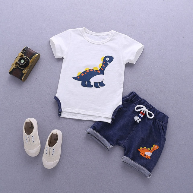 Kids Clothes For Boys Clothing Sets 2021 Summer Toddler Boys Clothes Set Outfits Boys Sport Suit Children Clothing 1 2 3 4 Year Clothing Sets  – White 8