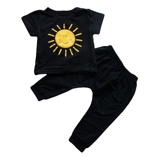 Kids Clothes For Boys Clothing Sets 2021 Summer Toddler Boys Clothes Set Outfits Boys Sport Suit Children Clothing 1 2 3 4 Year Clothing Sets  – Black 10