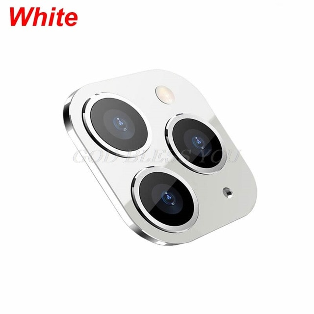 New Camera Lens Cover for iPhone X XS / XS MAX Seconds Change for iPhone 11 Pro Lens Sticker Modified Camera Cover Drop Shipping|Mobile Phone Lens| – White 7