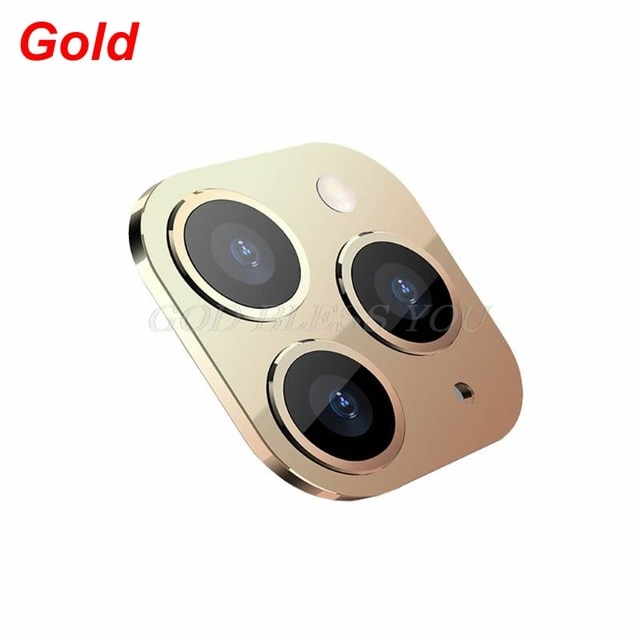 New Camera Lens Cover for iPhone X XS / XS MAX Seconds Change for iPhone 11 Pro Lens Sticker Modified Camera Cover Drop Shipping|Mobile Phone Lens| – Gold 6