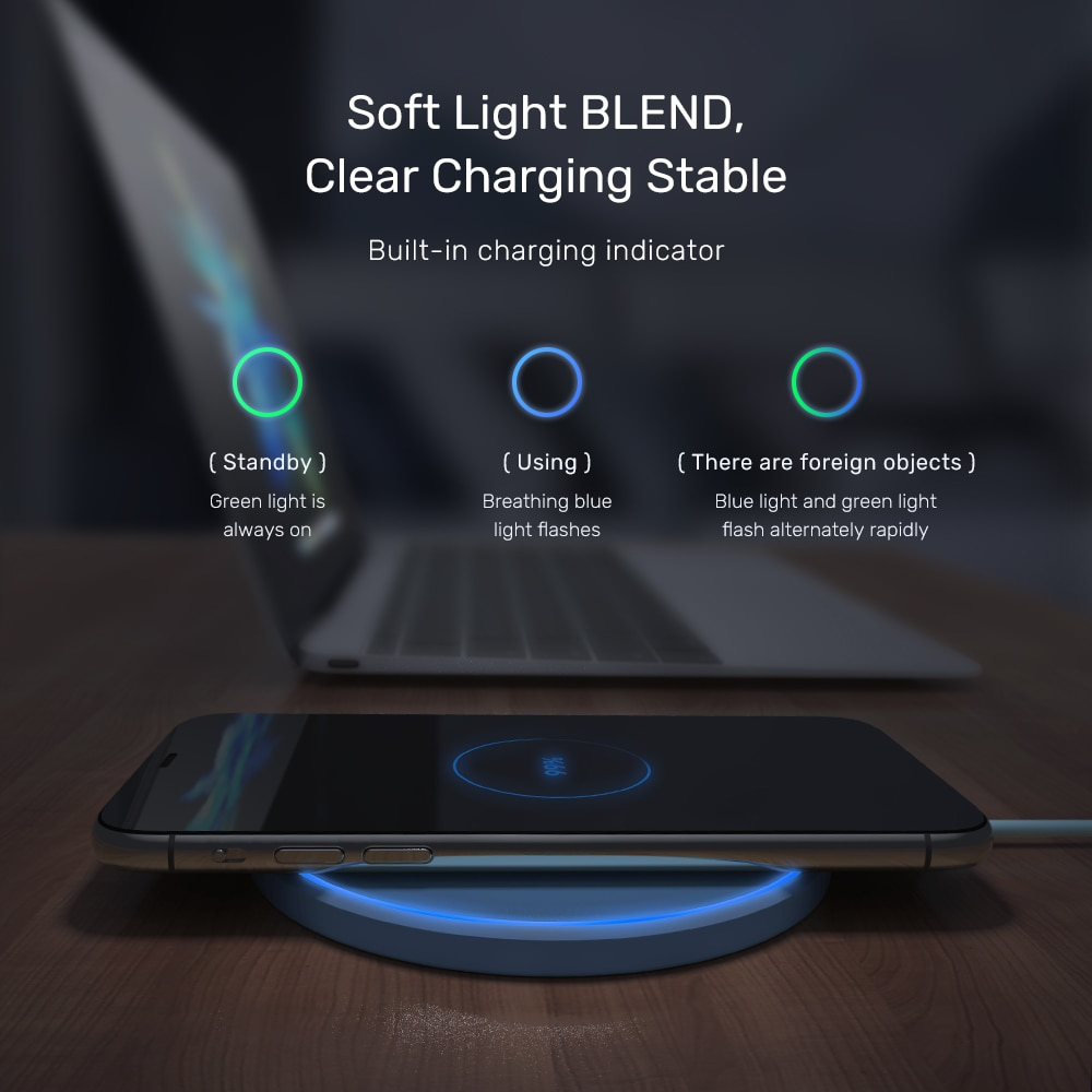 TOPK 10W Wireless Charger For iPhone 12 11 Pro Max Fast Wireless Charging Pad Induction Charger For Samsung S9 S10+ Note 9 8|Wireless Chargers| 2