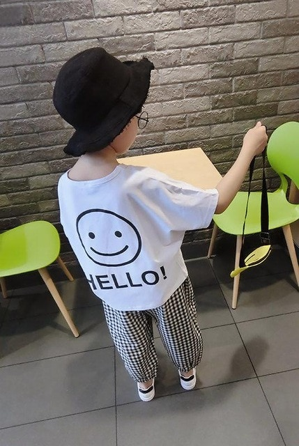 Vidmid Baby Boys Summer Cotton Clothing Suits 2 8 Years Kids Children Cotton Plaid Short Sleeve Clothes Sets Boy Casual Set P445 Clothing Sets  – as photo [193] 6