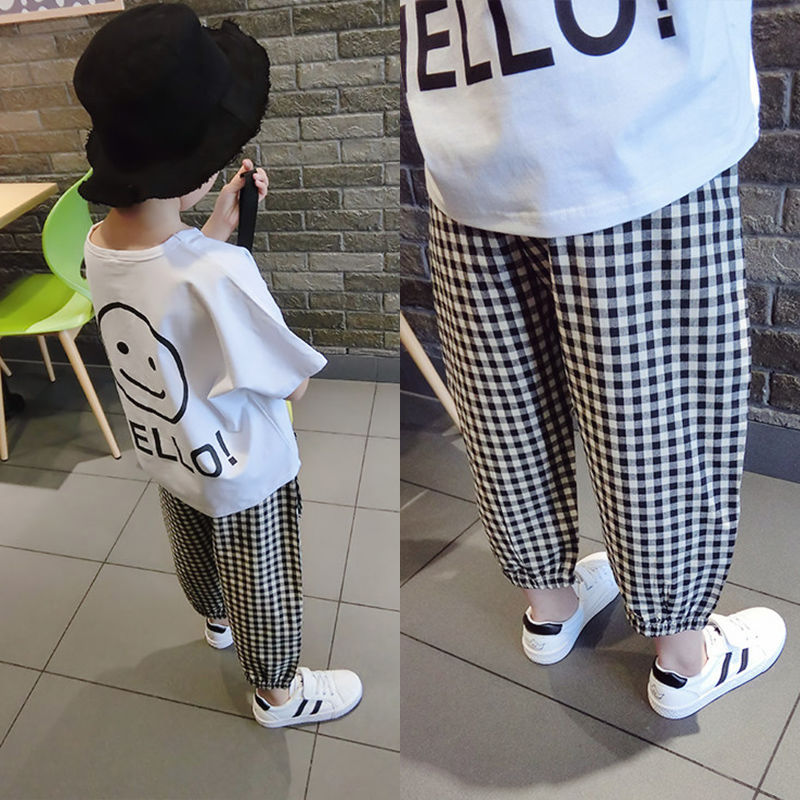 Vidmid Baby Boys Summer Cotton Clothing Suits 2 8 Years Kids Children Cotton Plaid Short Sleeve Clothes Sets Boy Casual Set P445 Clothing Sets  3
