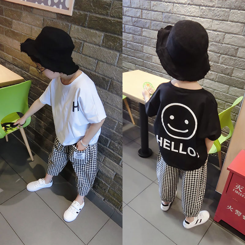 Vidmid Baby Boys Summer Cotton Clothing Suits 2 8 Years Kids Children Cotton Plaid Short Sleeve Clothes Sets Boy Casual Set P445 Clothing Sets  1
