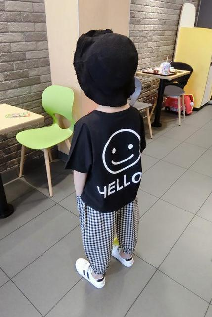 Vidmid Baby Boys Summer Cotton Clothing Suits 2 8 Years Kids Children Cotton Plaid Short Sleeve Clothes Sets Boy Casual Set P445 Clothing Sets  – as photo 5
