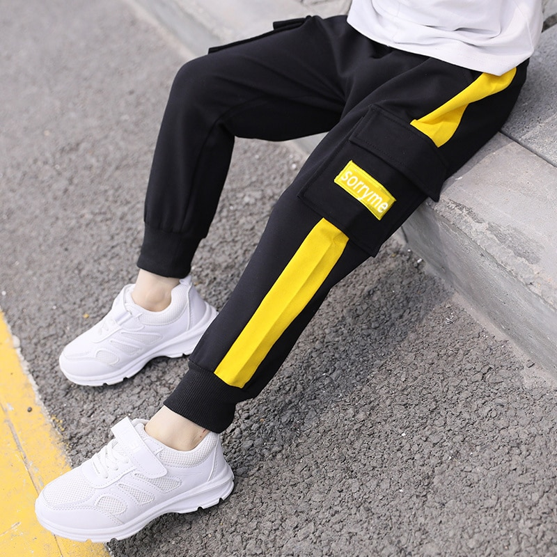 children pants Boy Sports Pants Big Boy Pants Spring Teenage Spring Toddler Casual Kids Trousers For Boys Clothes Age 3 12 Year Pants  5