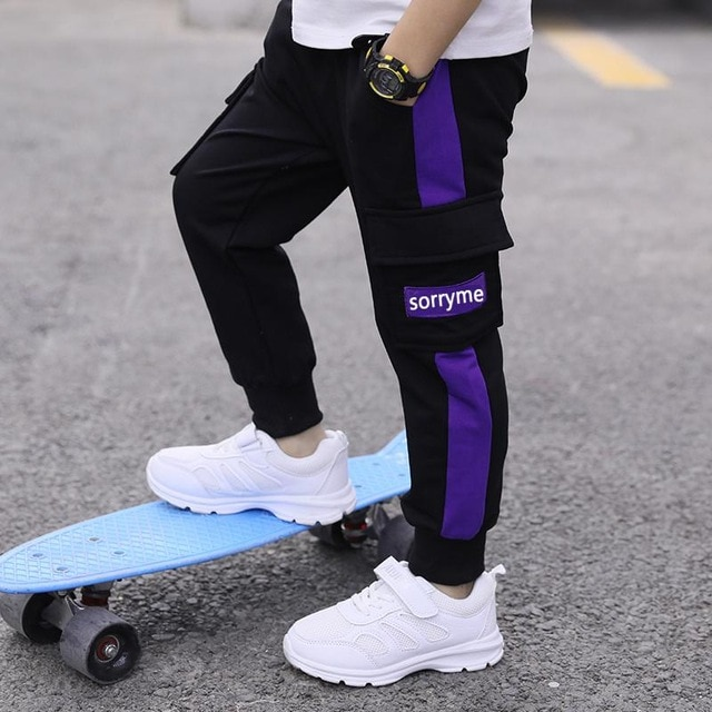 children pants Boy Sports Pants Big Boy Pants Spring Teenage Spring Toddler Casual Kids Trousers For Boys Clothes Age 3 12 Year Pants  – Lavender 12