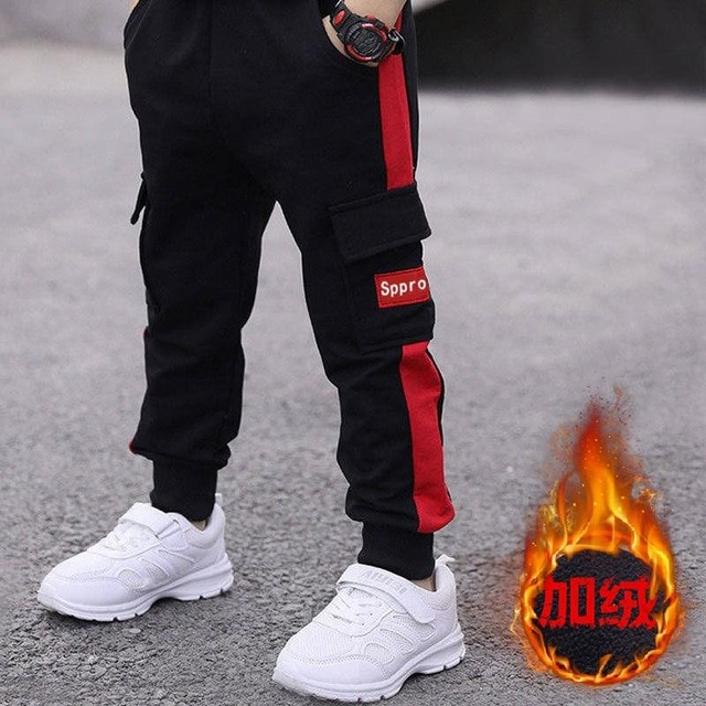 children pants Boy Sports Pants Big Boy Pants Spring Teenage Spring Toddler Casual Kids Trousers For Boys Clothes Age 3 12 Year Pants  – cotton red 15