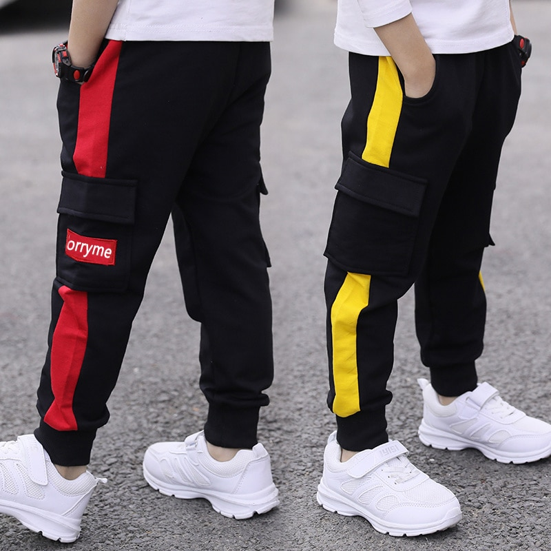 children pants Boy Sports Pants Big Boy Pants Spring Teenage Spring Toddler Casual Kids Trousers For Boys Clothes Age 3 12 Year Pants  1