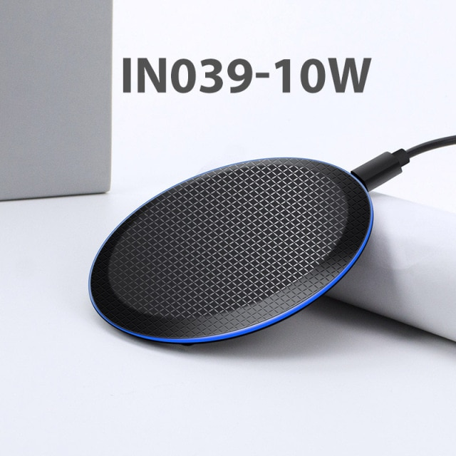 iONCT 10W Fast Qi Wireless Charger for iPhone 11 pro 8 X XR XS wirless Charging for Samsung phone USB wireless charger pad IN040 Wireless Chargers  – IN-10W 8