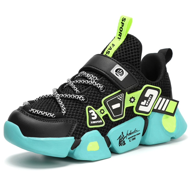 High Quality Children's Shoes Breathable Sneakers For Boys Lightweight Kids Shoes Soft Bottom Running Shoe Tenis Infantil|Sneakers| – Blue 8