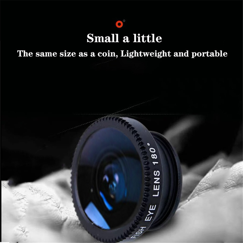 phone lens Fisheye 0.67x Wide Angle Zoom lens fish eye 6x macro lenses Camera Kits with Clip lens on the phone for smartphone Mobile Phone Lens  4