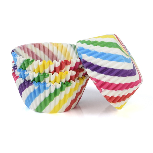 100pcs/lot Printed Cupcake Paper Cups Cupcake Liner Baking Muffin Cup Case Home Kitchen Cooking Supplies Cake Decorating Tools|Cake Molds| – C02 8