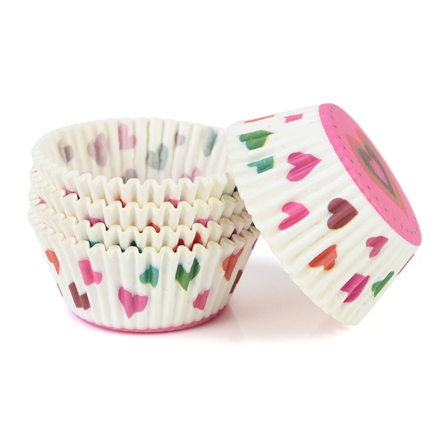 100pcs/lot Printed Cupcake Paper Cups Cupcake Liner Baking Muffin Cup Case Home Kitchen Cooking Supplies Cake Decorating Tools|Cake Molds| – C14 20