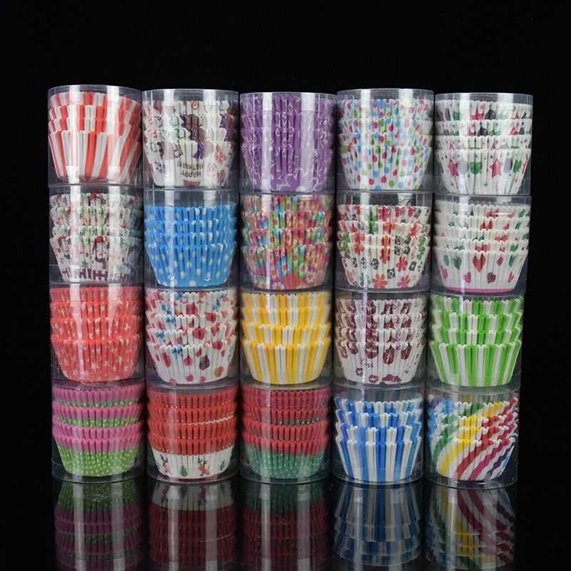 100pcs/lot Printed Cupcake Paper Cups Cupcake Liner Baking Muffin Cup Case Home Kitchen Cooking Supplies Cake Decorating Tools|Cake Molds| 3
