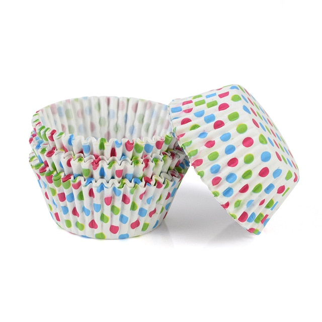 100pcs/lot Printed Cupcake Paper Cups Cupcake Liner Baking Muffin Cup Case Home Kitchen Cooking Supplies Cake Decorating Tools|Cake Molds| – C04 10