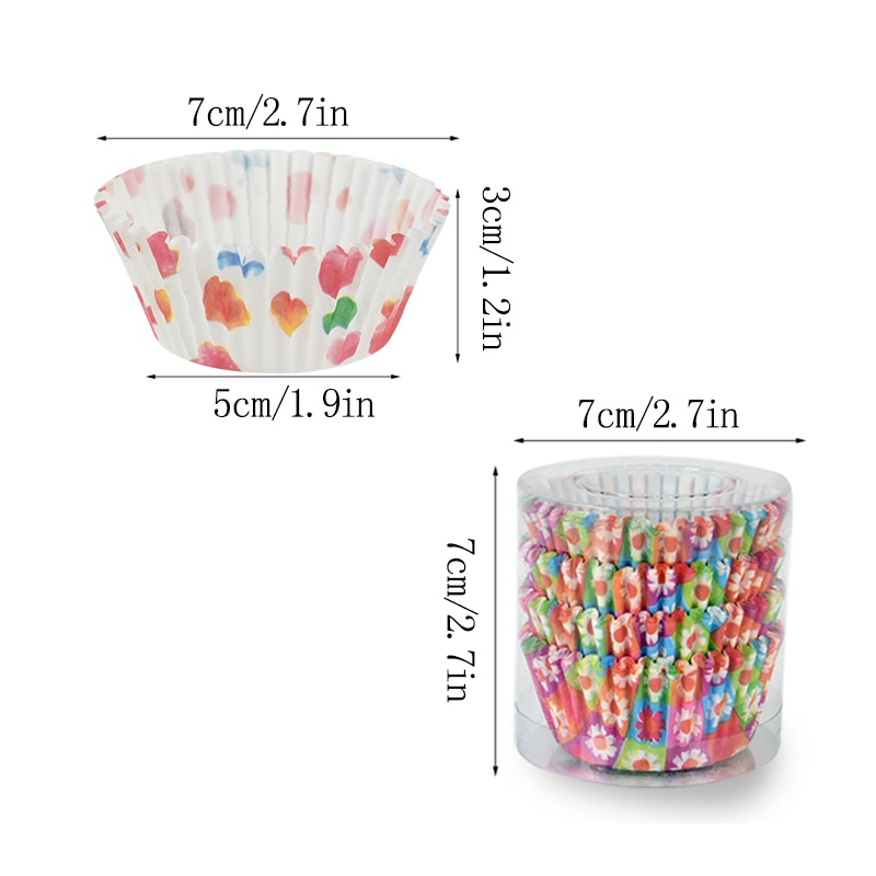 100pcs/lot Printed Cupcake Paper Cups Cupcake Liner Baking Muffin Cup Case Home Kitchen Cooking Supplies Cake Decorating Tools|Cake Molds| 5