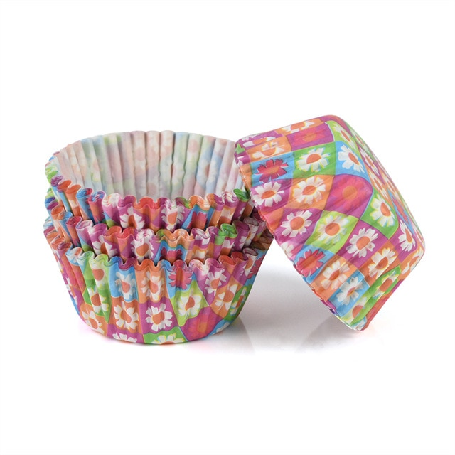 100pcs/lot Printed Cupcake Paper Cups Cupcake Liner Baking Muffin Cup Case Home Kitchen Cooking Supplies Cake Decorating Tools|Cake Molds| – C06 12