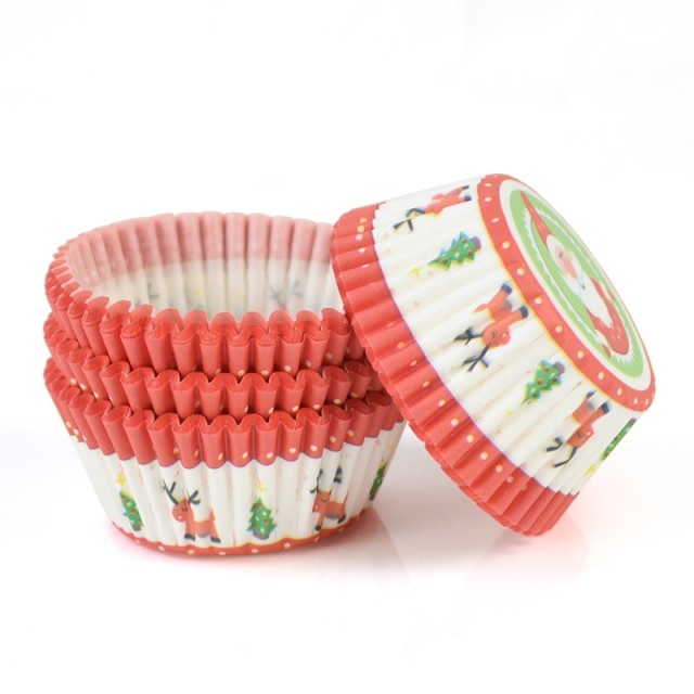100pcs/lot Printed Cupcake Paper Cups Cupcake Liner Baking Muffin Cup Case Home Kitchen Cooking Supplies Cake Decorating Tools|Cake Molds| – C08 14