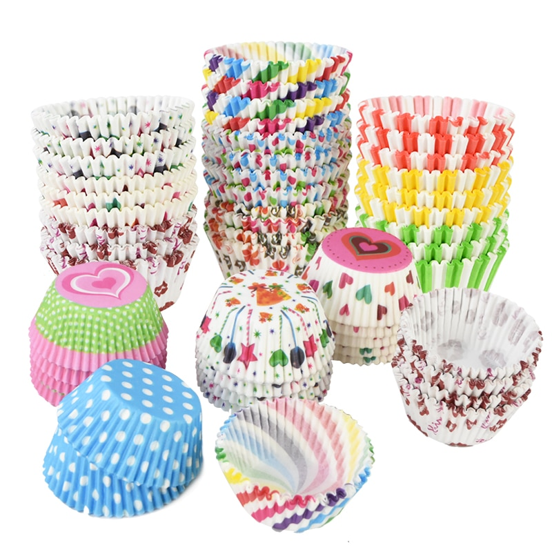 100pcs/lot Printed Cupcake Paper Cups Cupcake Liner Baking Muffin Cup Case Home Kitchen Cooking Supplies Cake Decorating Tools|Cake Molds| 1