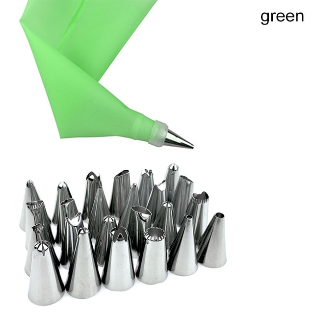 12 to 26Pcs Cake Decorating Tools Pipe Icing Nozzles Baking Supplies Stainless Steel Dessert Decoration Kitchen Accessories|Decorating Tip Sets| – 26pcs OPP bag [618] 21